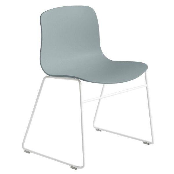 Hay Tweedekansje - About a Chair AAC08 stoel met wit onderstel Dusty Blue