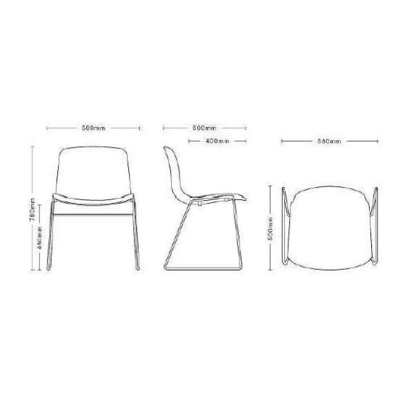 Hay About a Chair AAC08 stoel met roestvrijstalen onderstel