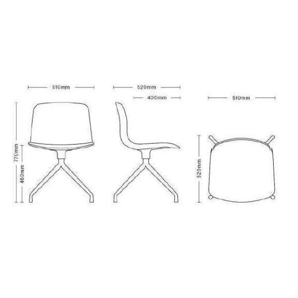 Hay About a Chair AAC10 stoel met wit onderstel
