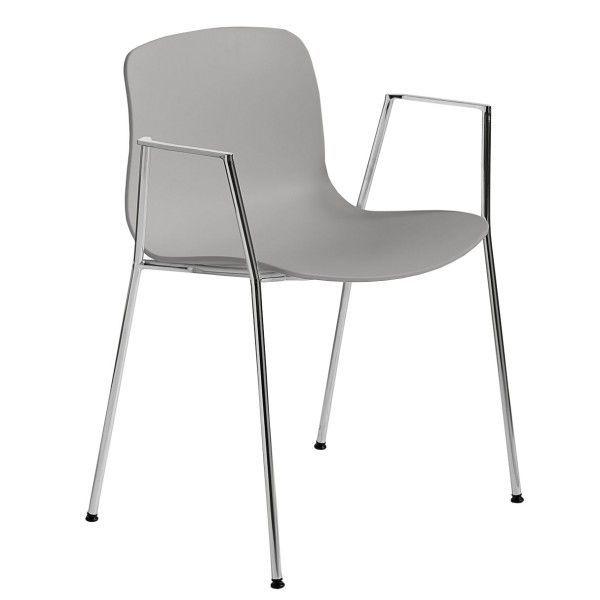 Hay About a Chair AAC18 stoel met chroom onderstel