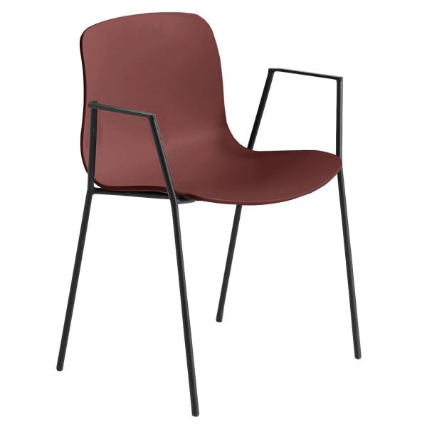Hay Tweedekansje - About a Chair AAC18 stoel met zwart onderstel Brick