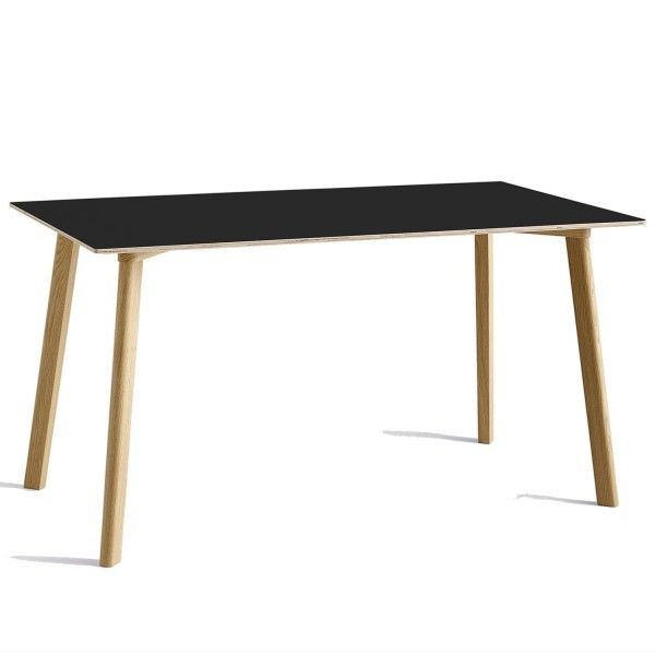 Hay CPH Deux 210 tafel 140x75 met mat gelakt eiken onderstel