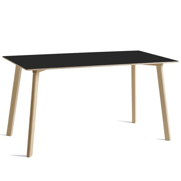 Hay CPH Deux 210 tafel 140x75 met onbewerkt beuken onderstel