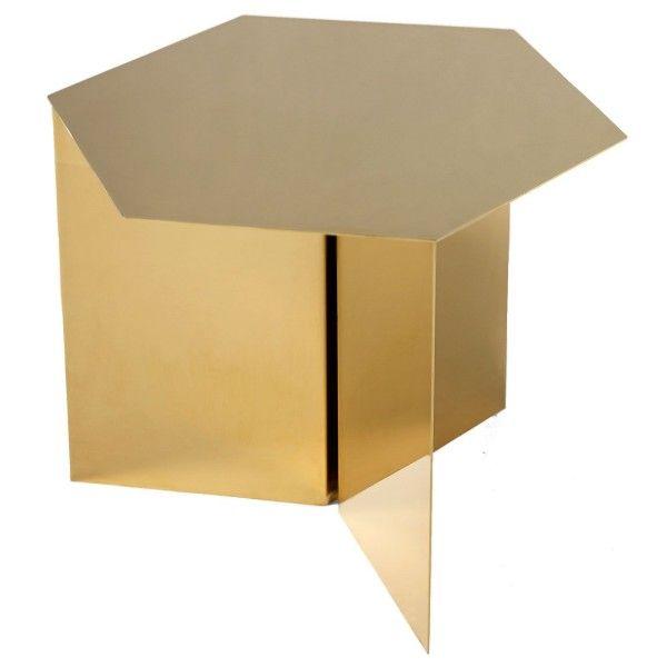 Hay Slit Table Hexagon bijzettafel 46x46