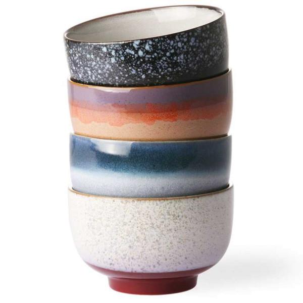 HKliving 70's Ceramic noodle schaal set van 4