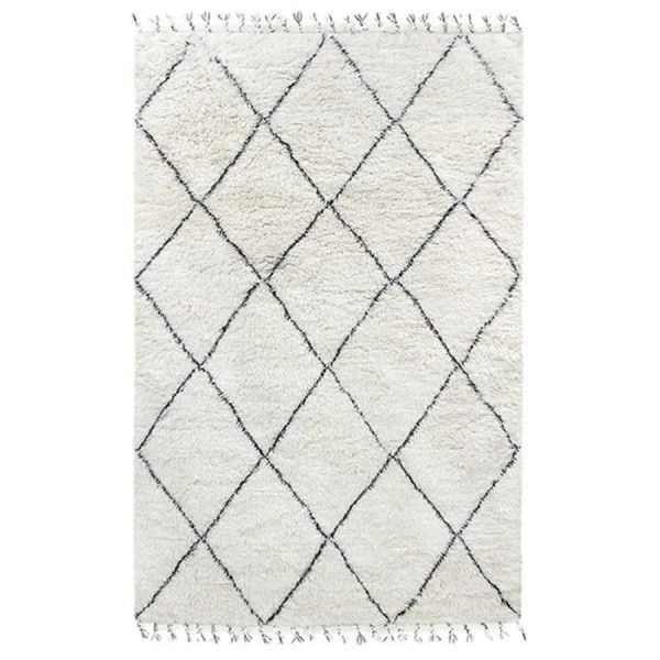 HKliving Black White Berber vloerkleed 200x300