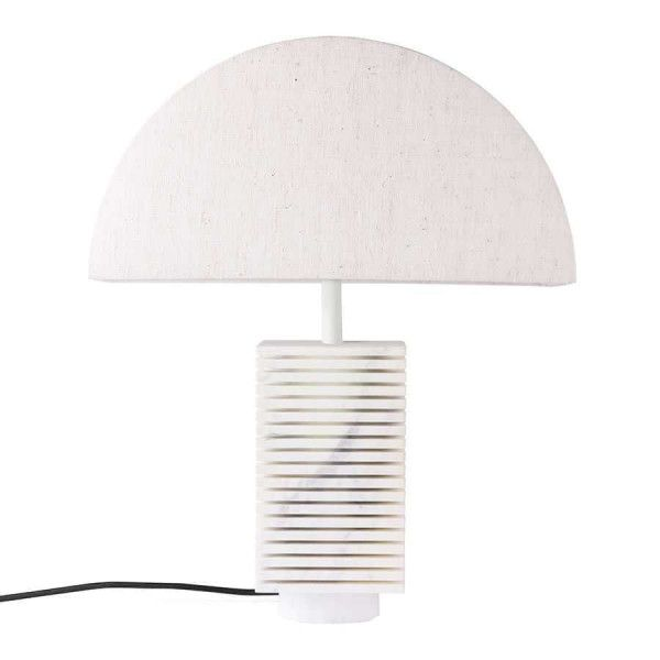 HKliving Hexagon tafellamp L marmer wit