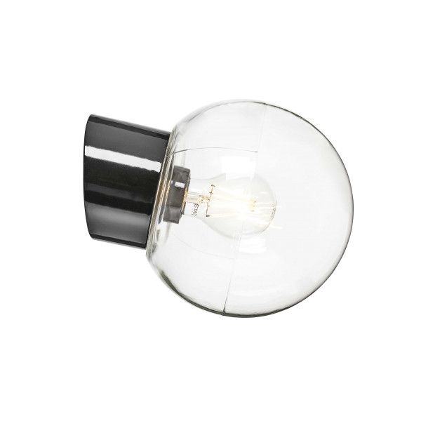 Ifö Electric Classic Globe wandlamp porselein IP54 180mm helder