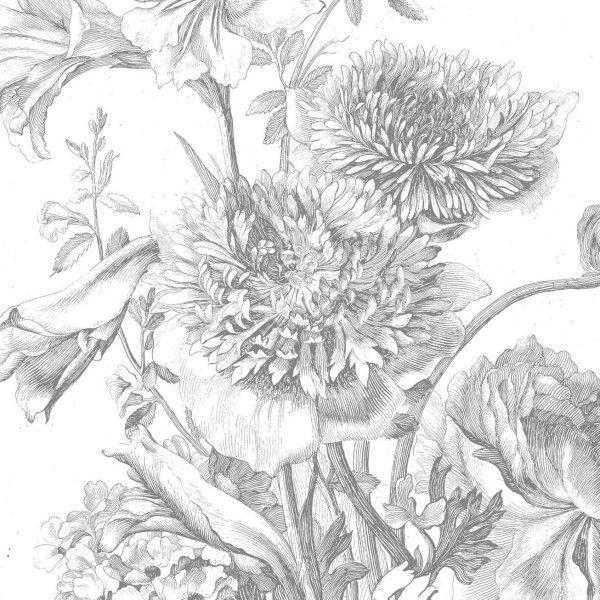 KEK Amsterdam Engraved Flowers IV behang