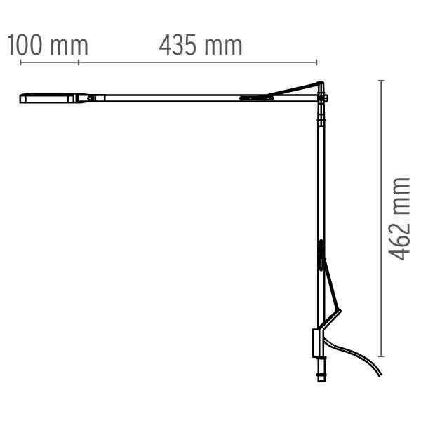 Flos Kelvin bureaulamp LED met bladbevestiging