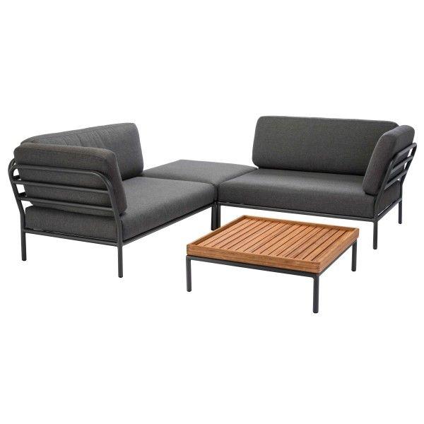Houe Level loungeset tuin 3 dark grey