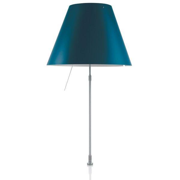 Luceplan Costanza tafellamp telescopisch met aan-/uitschakelaar en schroefbevestiging aluminium