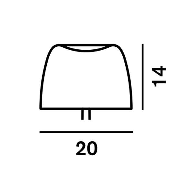 Foscarini Lumiere lampenkap Piccola