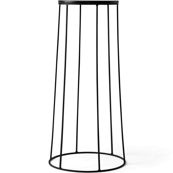 Menu Wire Marble 606 bijzettafel zwart