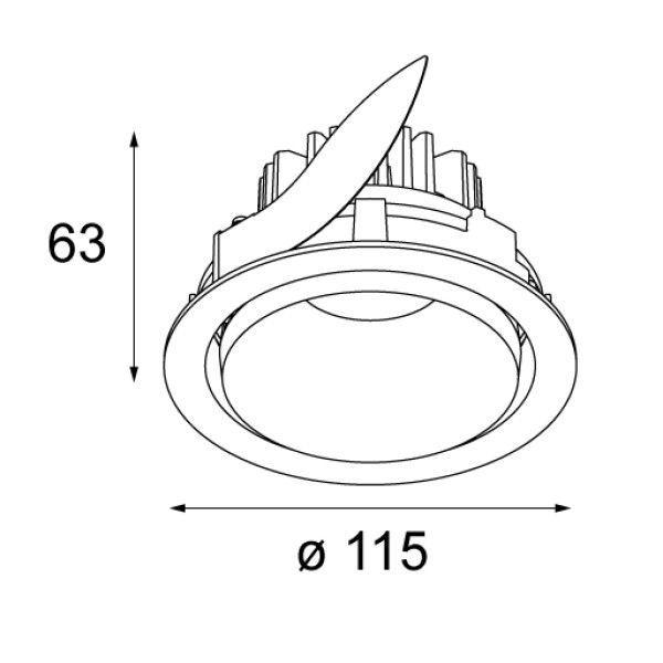 Modular Smart kup 115 verstelbare inbouw spot LED