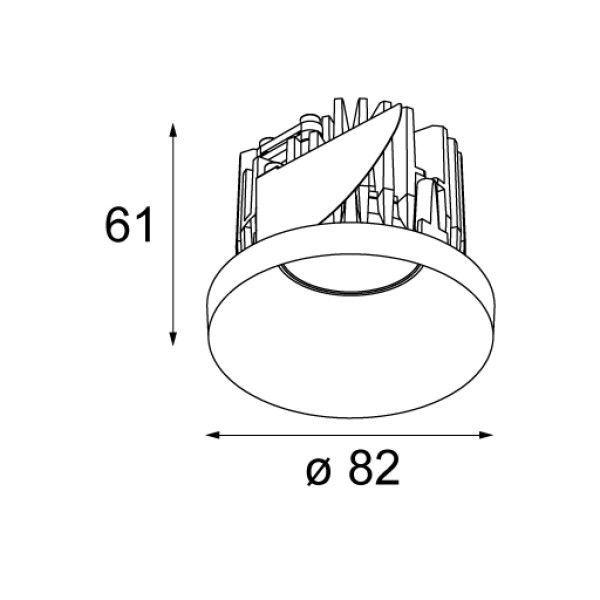 Modular Smart kup 82 IP54 inbouw spot LED
