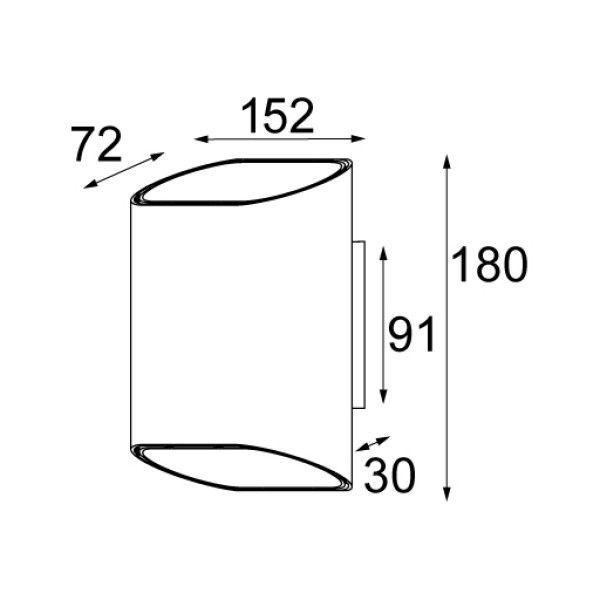 Modular Trapz wandlamp