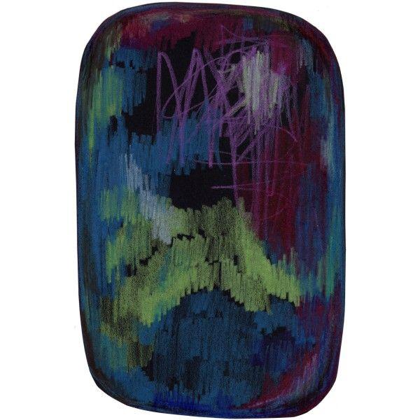 Moooi Carpets Scribble Black Green Blue vloerkleed 200x300