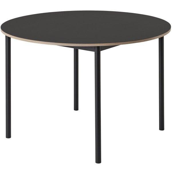 Muuto Base tafel rond zwart 110