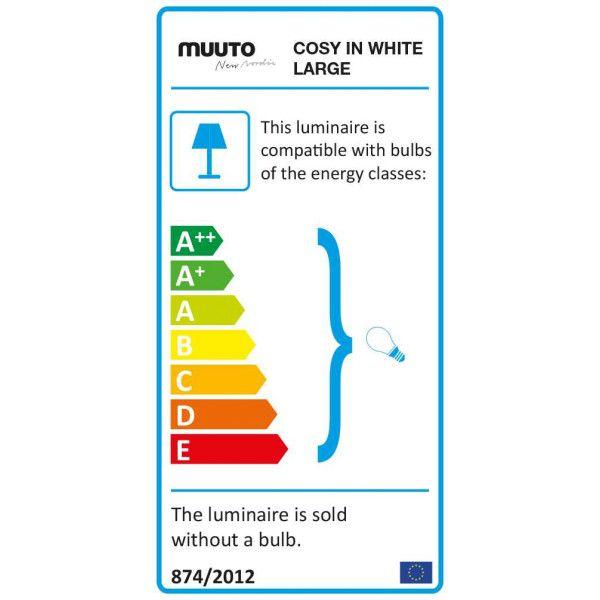 Muuto Cosy in white tafellamp large