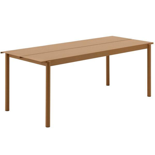 Muuto Linear tafel oranje 200x75