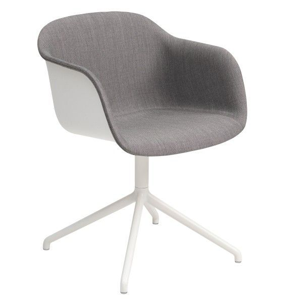 Muuto Fiber Swivel Front Upholstery stoel