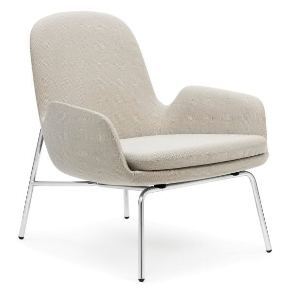 Normann Copenhagen Era Lounge Chair Low loungestoel met verchroomd onderstel