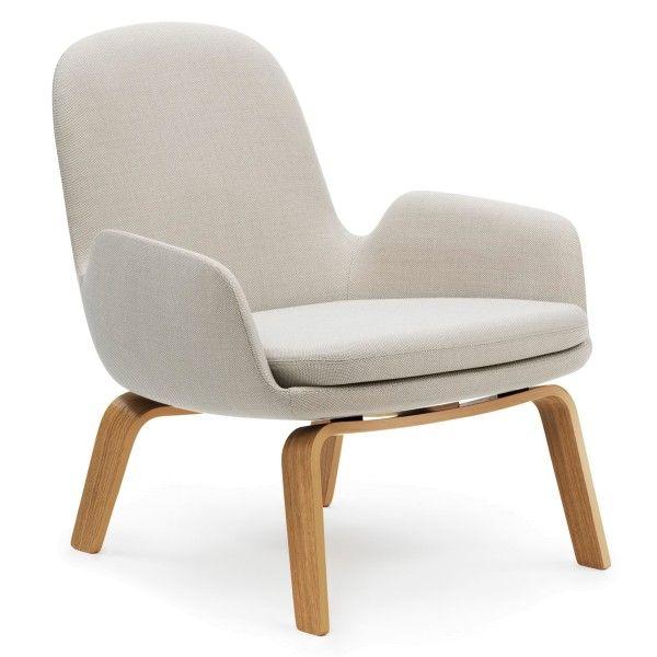 Normann Copenhagen Era Lounge Chair Low loungestoel met eiken onderstel