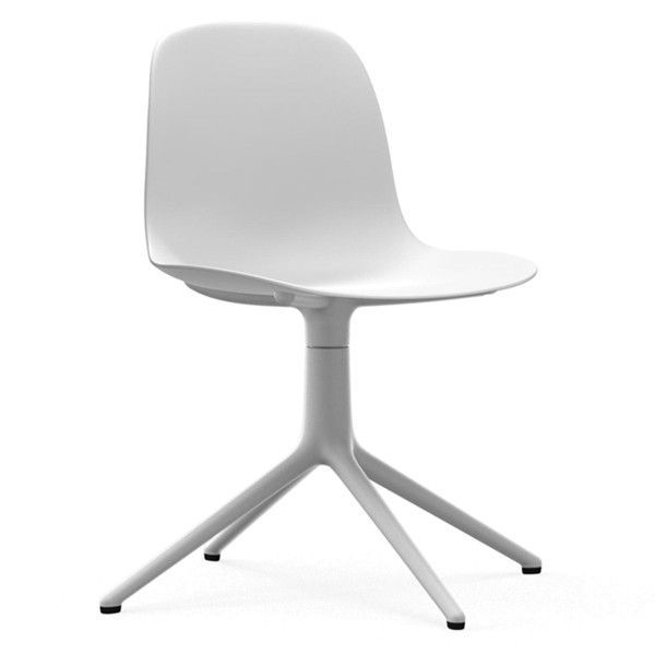 Normann Copenhagen Form Chair Swivel stoel met wit onderstel