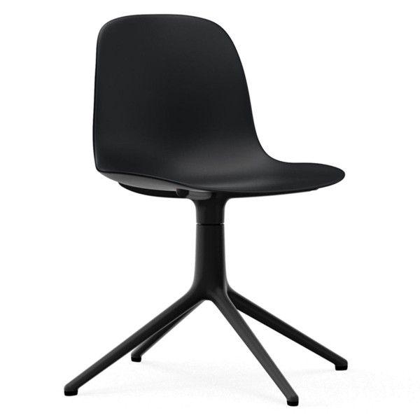 Normann Copenhagen Form Chair Swivel stoel met zwart onderstel