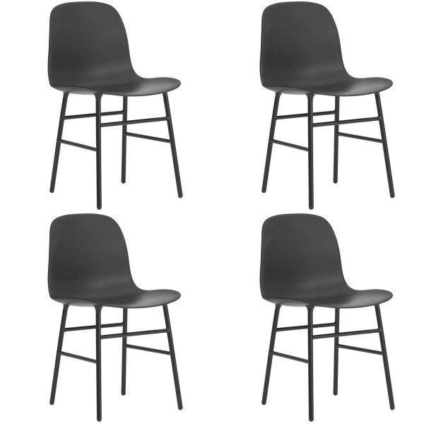 Normann Copenhagen Set aanbieding Form Steel stoel (4x)
