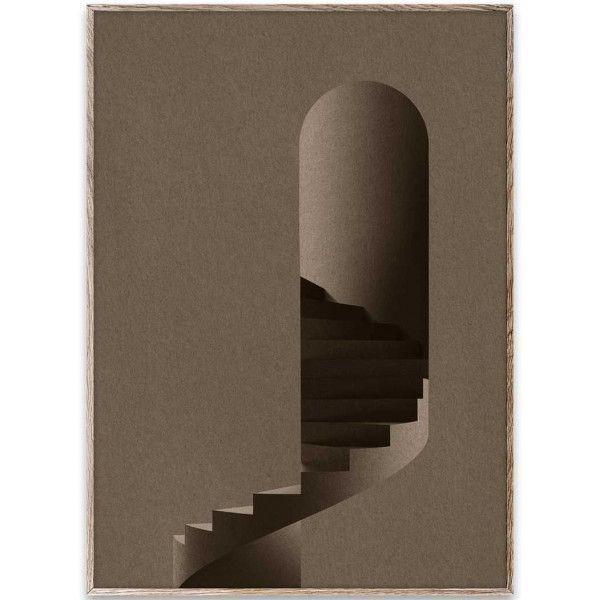 Paper Collective The Tower poster incl. eiken lijst 50x70