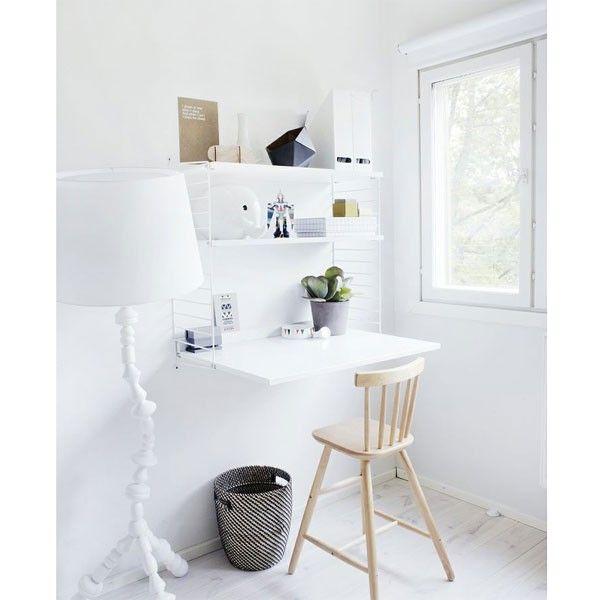 String Wandkast met tafel small, wit