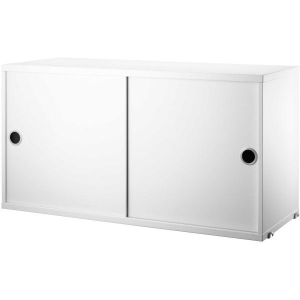 String Cabinet with sliding doors 78 x 20 x 37 cm
