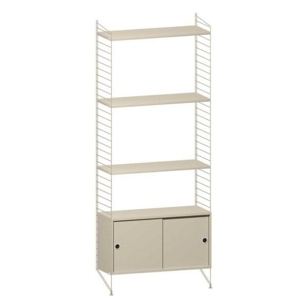 String Furniture Hoge kast small, beige