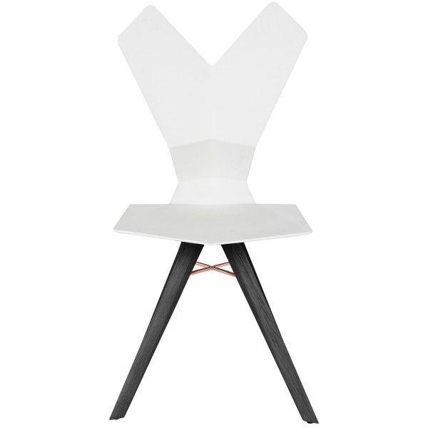 Tom Dixon Y Chair stoel met eiken onderstel