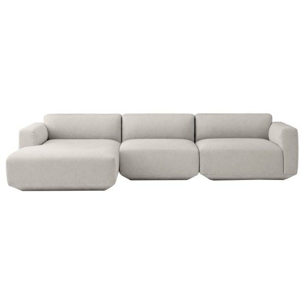 &tradition Develius bank 3-zits met chaise longue links