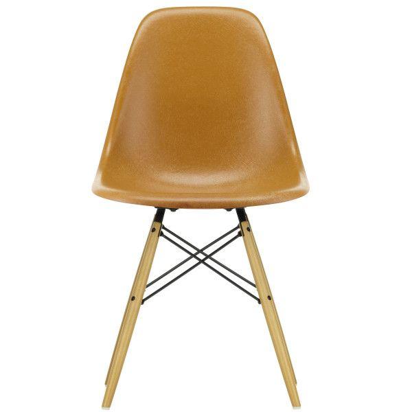 Vitra Eames DSW Fiberglass stoel esdoorn goud