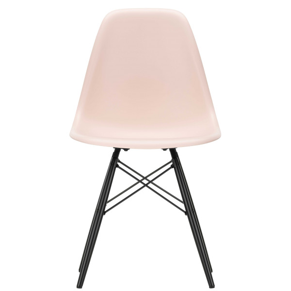 Vitra Eames DSW stoel zwart esdoorn onderstel