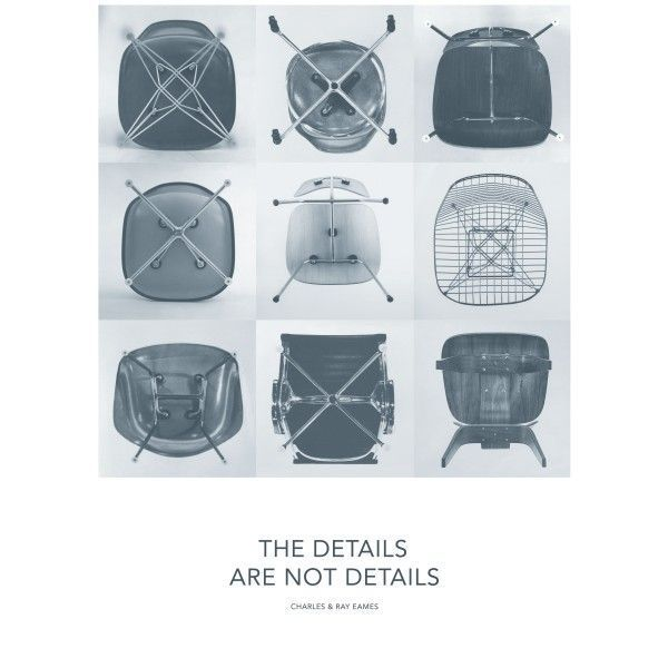 Vitra Eames Quote poster Details