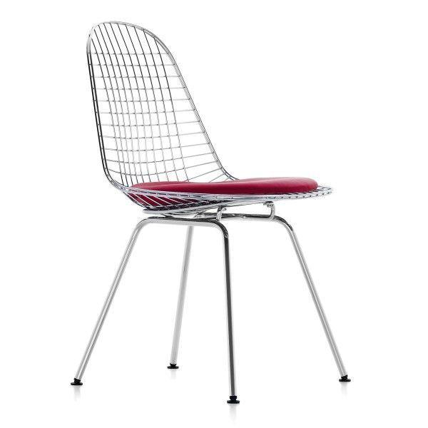 Vitra Eames Wire Chair DKX-5 stoel verchroomd onderstel