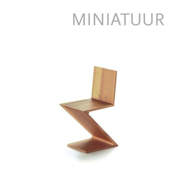 Vitra Zig zag stoel miniatuur