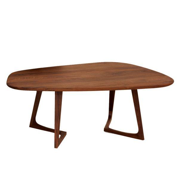 Zeitraum Twist Stone salontafel 107x71 Amerikaans walnoten