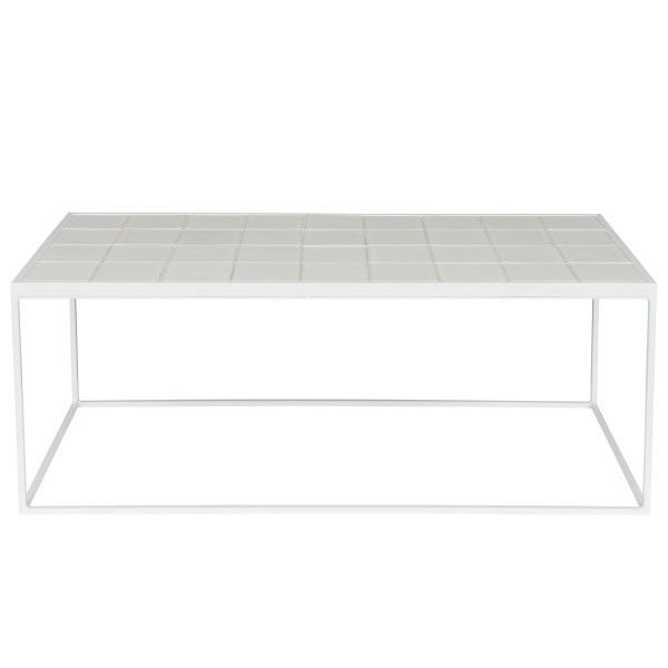 Zuiver Outlet - Glazed salontafel 42x93 wit