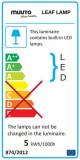 Muuto Leaf vloerlamp LED