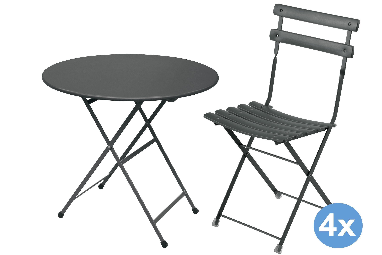 Emu Arc En Ciel : emu arc en ciel tuinset 80 tafel 4 stoelen flinders ~ Watch28wear.com Haus und Dekorationen