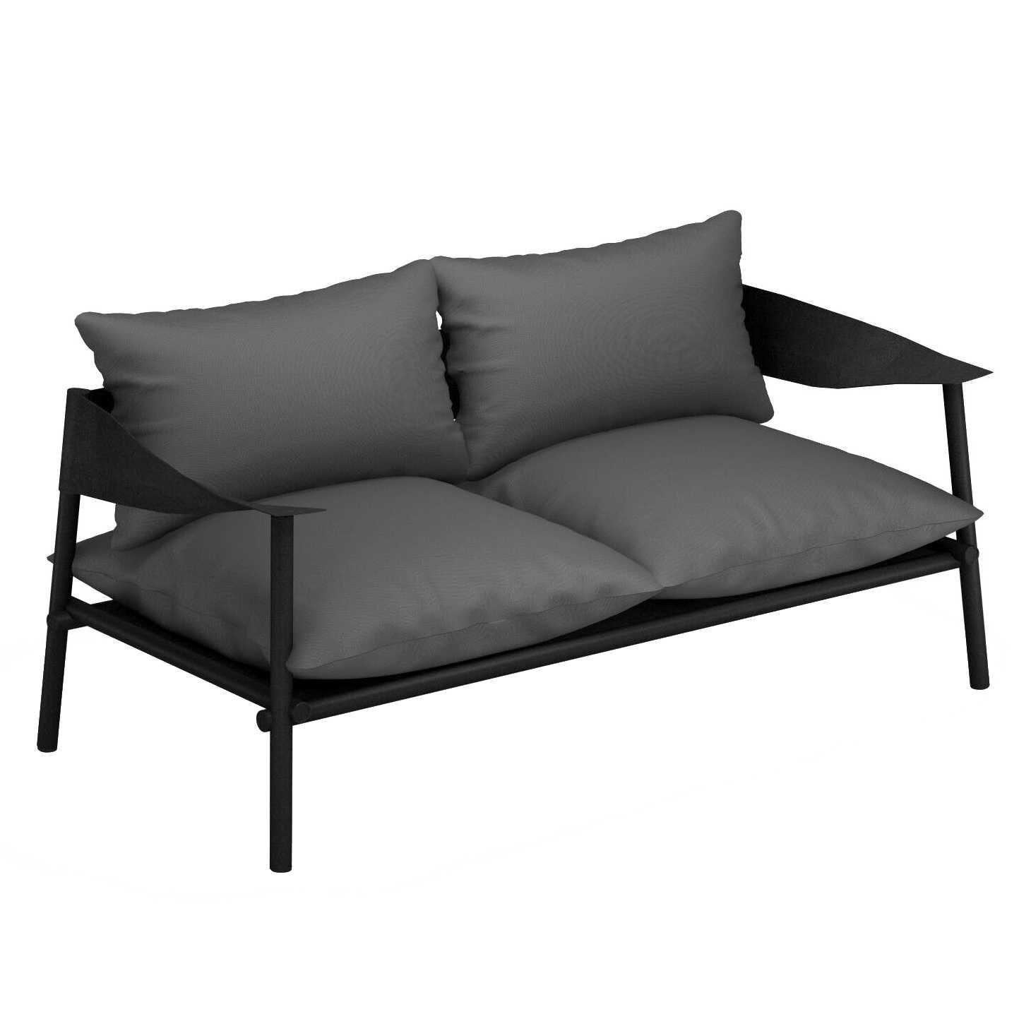 Lounge Bankje 2 Zits.Emu Terramare 2 Zits Loungebank Zwart Flinders Verzendt Gratis