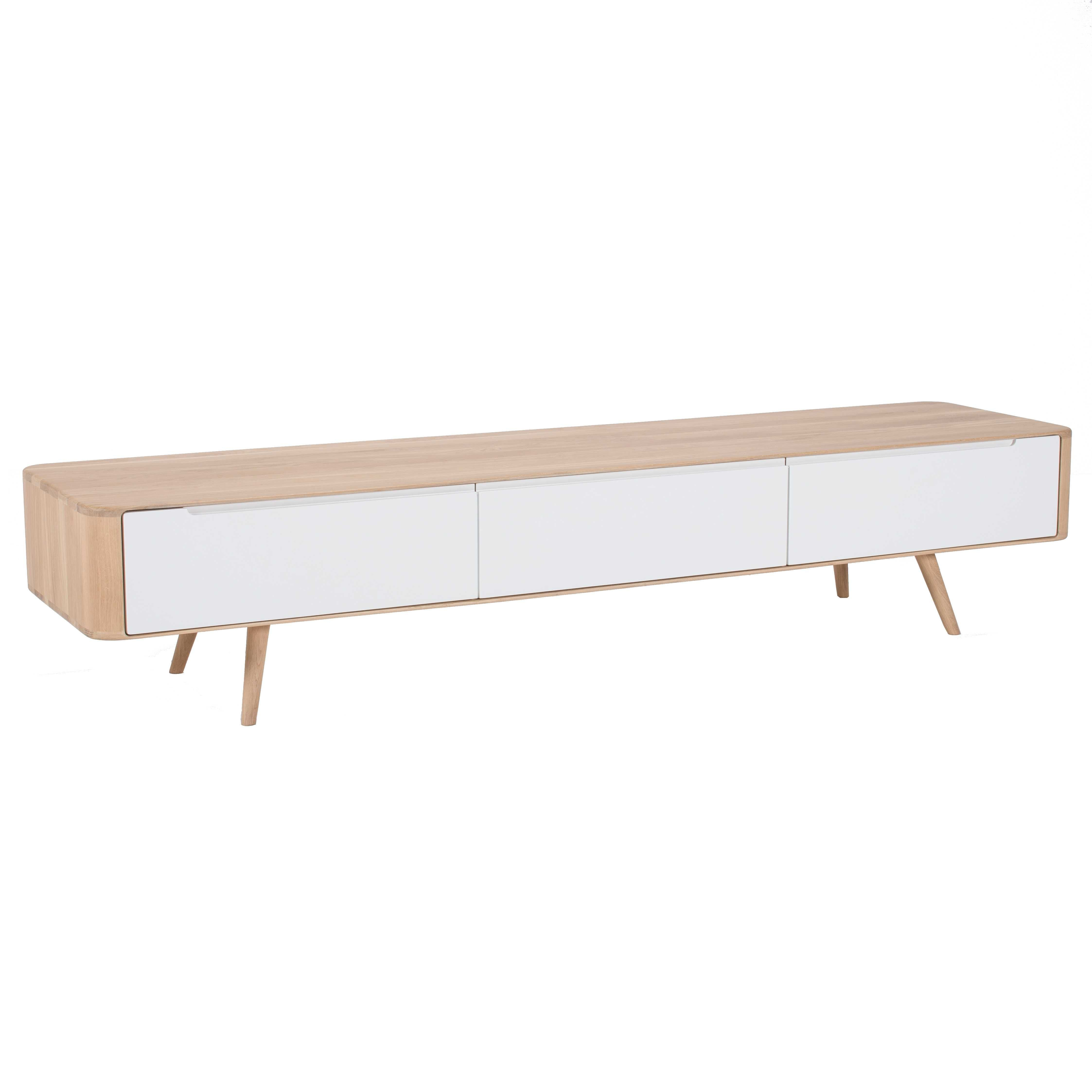 Diepe Tv Kast.Gazzda Ena Tv Dressoir 225x55 Whitewash Flinders Verzendt Gratis