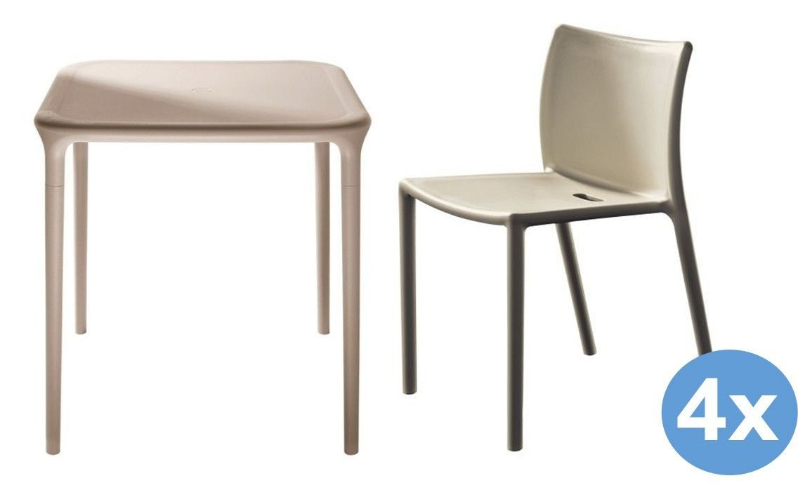 Design Tafel Stoelen.Magis Air Table Tuinset 65x65 Tafel 4 Stoelen Flinders