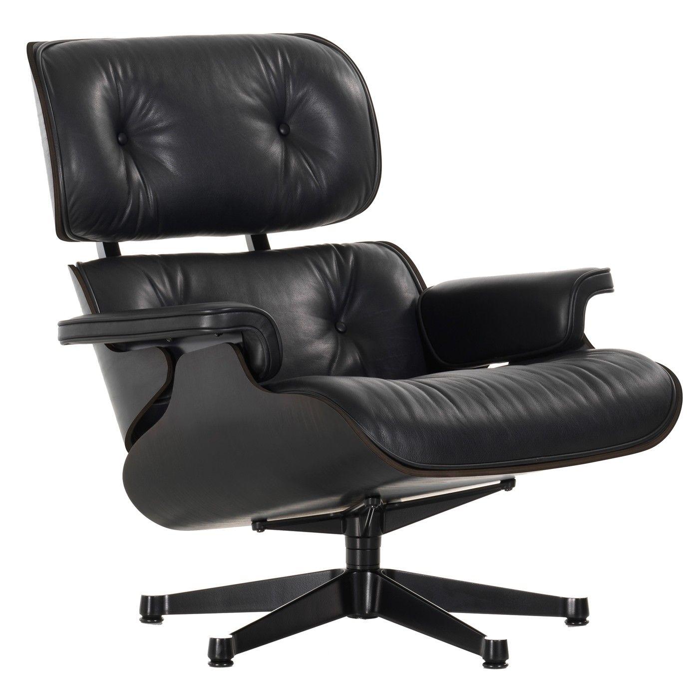 Eames Bureaustoel Kopie.Vitra Eames Lounge Chair Fauteuil Nieuwe Afmetingen Zwart
